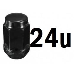 Juego 24 Tuercas 12x1.25 negra