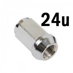 Juego 24 Tuercas 12x1.25 Cromo