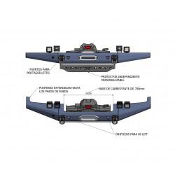 Paragolpes delantero con base para cabrestante y protector Y60