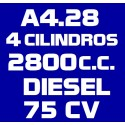 A428 4 CILINDROS 2.800 DIESEL 75CV