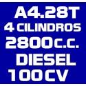 A428T 4 CILINDROS 2.800 DIESEL 100CV