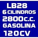LB28 6 CILINDROS 2.800CC GASOLINA 120CV