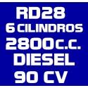 RD28 6 CILINDROS 2.800CC DIESEL 90CV