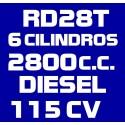 RD28T 6 CILINDROS 2.800CC DIESEL 115CV