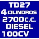 TD27 4 CILINDROS 2700 DIESEL 100CV