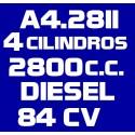A428II 4 CILINDROS 2.800 DIESEL 84CV