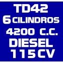 TD42 6 CILINDROS 4.200CC DIESEL 115CV