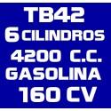 TB42 6 CILINDROS 4.200CC GASOLINA 160CV