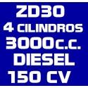 ZD30 4 CILINDROS 3.000CC DIESEL 159CV