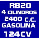 2.4L KA24S R20 GASOLINA (1993-1996)