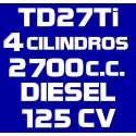 2.7L TD27Ti/TD27ETi R20 DIESEL 125CV (1996-2006)